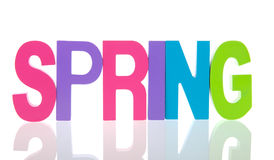 Text spring Royalty Free Stock Image