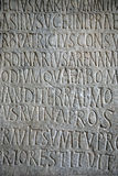 Text on a stone Stock Image