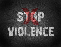 Text for Stop Violence on grunge background Royalty Free Stock Photos