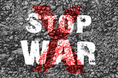 Text for Stop War on grunge background Royalty Free Stock Photos