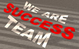 Text we are success Royalty Free Stock Images