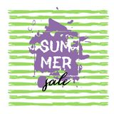 Text Summer Sale, discount banners.Grunge elements, ink drops, a. Bstract background. Vector illustration Vector Illustration