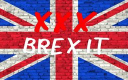 The text symbolize STOP brexit. 3D rendering Stock Image