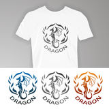 Text on t-shirt:. Dragon. Vector illustration dragon for design of t-shirts, mugs, pens and other things royalty free illustration