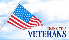 Text THANK YOU, VETERANS with USA flag