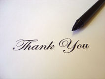 Text Thank you written Stock Photography