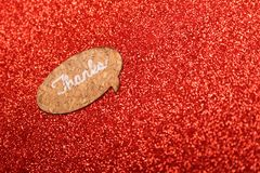 Text Thanks on a red background Royalty Free Stock Photo