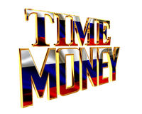 Text time is money on a white background. 3d illustration. Text time is money on a white background Royalty Free Stock Images