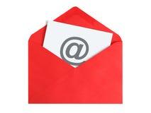 text tre för reflexion för e-post för svart begrepp för bakgrund dimensionell Royaltyfri Bild