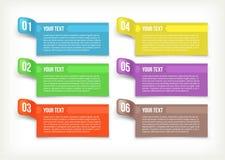 Text und Fahnenpapier Lizenzfreie Stockfotografie