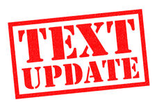 TEXT UPDATE Royalty Free Stock Photo