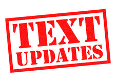 TEXT UPDATES Royalty Free Stock Photo