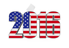 2016 Text with USA Flag Royalty Free Stock Photos