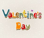 Text Valentine's Day Royalty Free Stock Photography