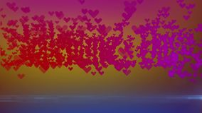 Valentine`s Day Logo of herts stock footage