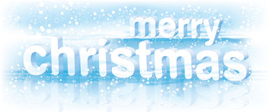 Text/Vektor der frohen Weihnachten Stockfotografie