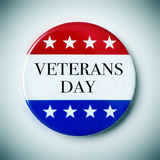 Text veterans day in a badge Royalty Free Stock Photos