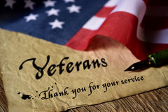 Text veterans than you for your service Royalty Free Stock Photo
