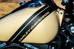 Text on Vintage Motorcycle Royalty Free Stock Images