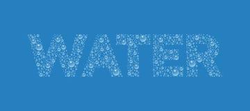 Text von der Tröpfchenbeschaffenheit Wort-Wasser vektor abbildung