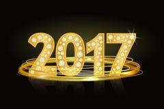 Text von Diamanten 2017 Neues Jahr Zahlen, Zahl, Datum Stockfoto