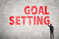 Text on wall, Goal Setting Stock Photos