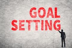 Text on wall, Goal Setting Stock Photos