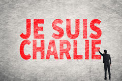 Text on wall, I am Charlie (In French) Royalty Free Stock Photos