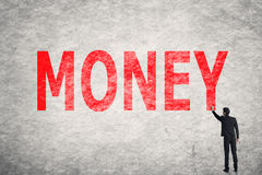 Text on wall, Money Royalty Free Stock Images