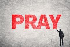 Text on wall, Pray Royalty Free Stock Photo
