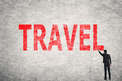 Text on wall, Travel Royalty Free Stock Photo