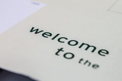 Text Welcome Royalty Free Stock Image