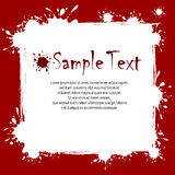 Text on inkblots background. Text on white red background with inkblots, vector illustration vector illustration