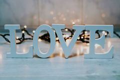 Text with word love in the background royalty free stock images