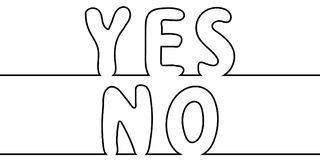 Text word yes to no, one line drawing, vector cartoon letters yes no one line drawing stylus. Text the word yes to no, one line drawing, vector cartoon letters Royalty Free Stock Image