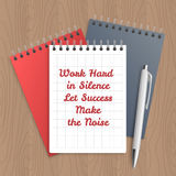 Text: work hard in silence Royalty Free Stock Image