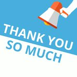 text writing Thank You So Much vector illustration