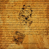 Text is written on grunge old paper Royalty Free Stock Photos