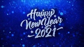 Text-Wunsch-Partikel-Gr??e des guten Rutsch ins Neue Jahr-2021 blaue, Einladung, Feier-Hintergrund