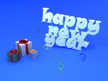 Text year. Text image happy new year vector illustration