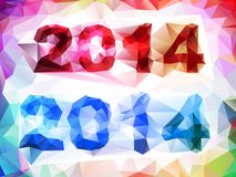 Text 2014 year. Composition of numbers 2014, vector EPS10 with transparency Stock Images
