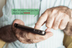 Text after 50 years I love you like the first day Royalty Free Stock Images