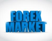 Text-Zeichenillustration des Devisenmarktes 3d Lizenzfreies Stockfoto