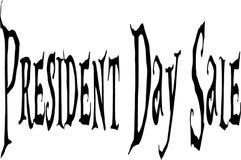 Text-Zeichenillustration Präsidenten Day Sale Stockfoto