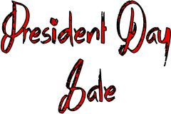 Text-Zeichenillustration Präsidenten Day Sale Stockbilder