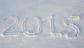 Textabgehobener betrag auf Schnee Lizenzfreie Stockfotografie