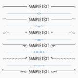Textavdelar- och jobbkortuppsättning 2 Arkivfoto