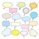 Textballone Ansammlung Spracheluftblasen Stockfotografie