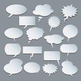 Textballone Ansammlung Spracheluftblasen Stockfotos