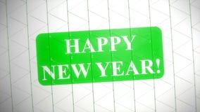 Textbaner för lyckligt nytt år lager videofilmer